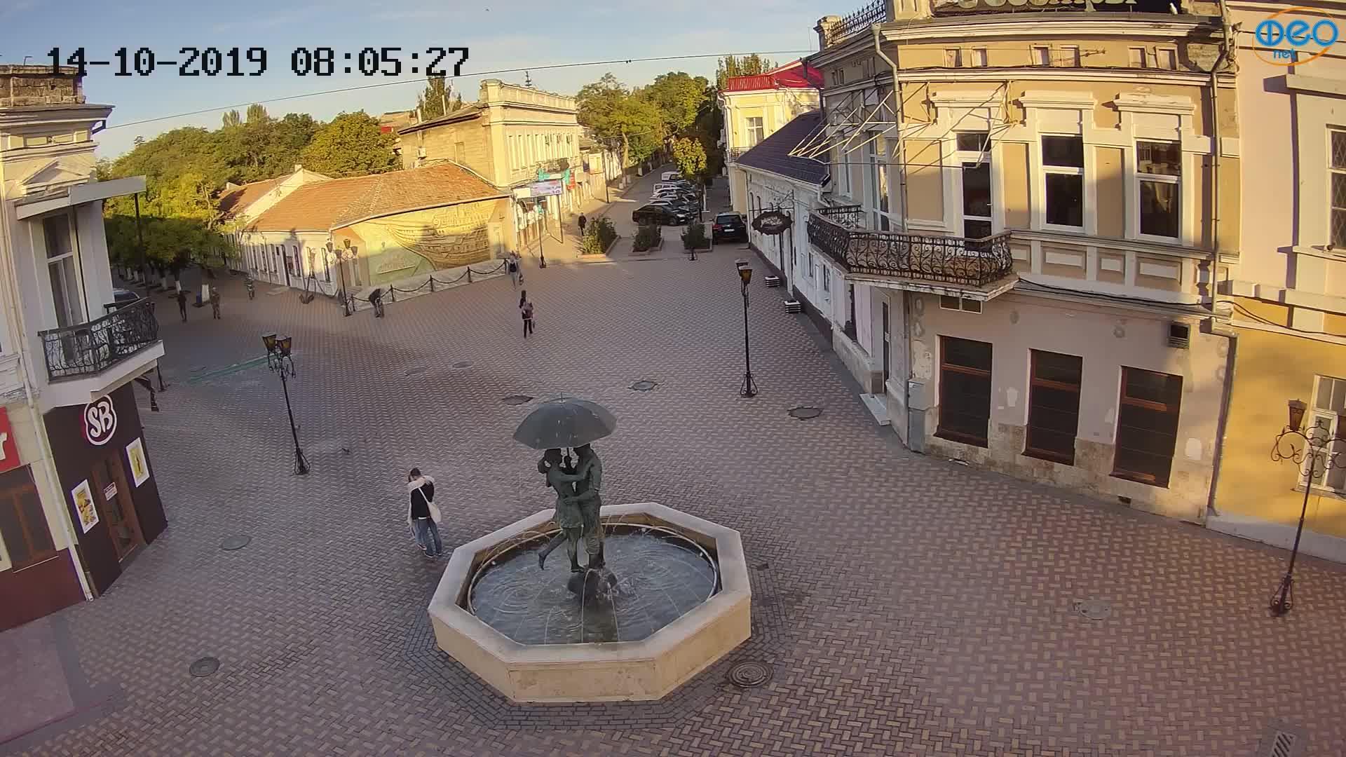 Веб-камеры Феодосии, Панно Бригантина (Камера со звуком.), 2019-10-14 08:23:06