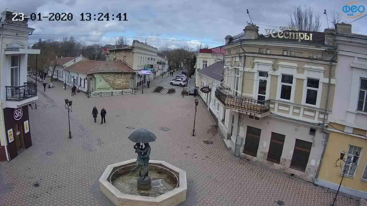Веб-камеры Феодосии, Панно Бригантина (Камера со звуком.), 2020-01-23 13:25:08