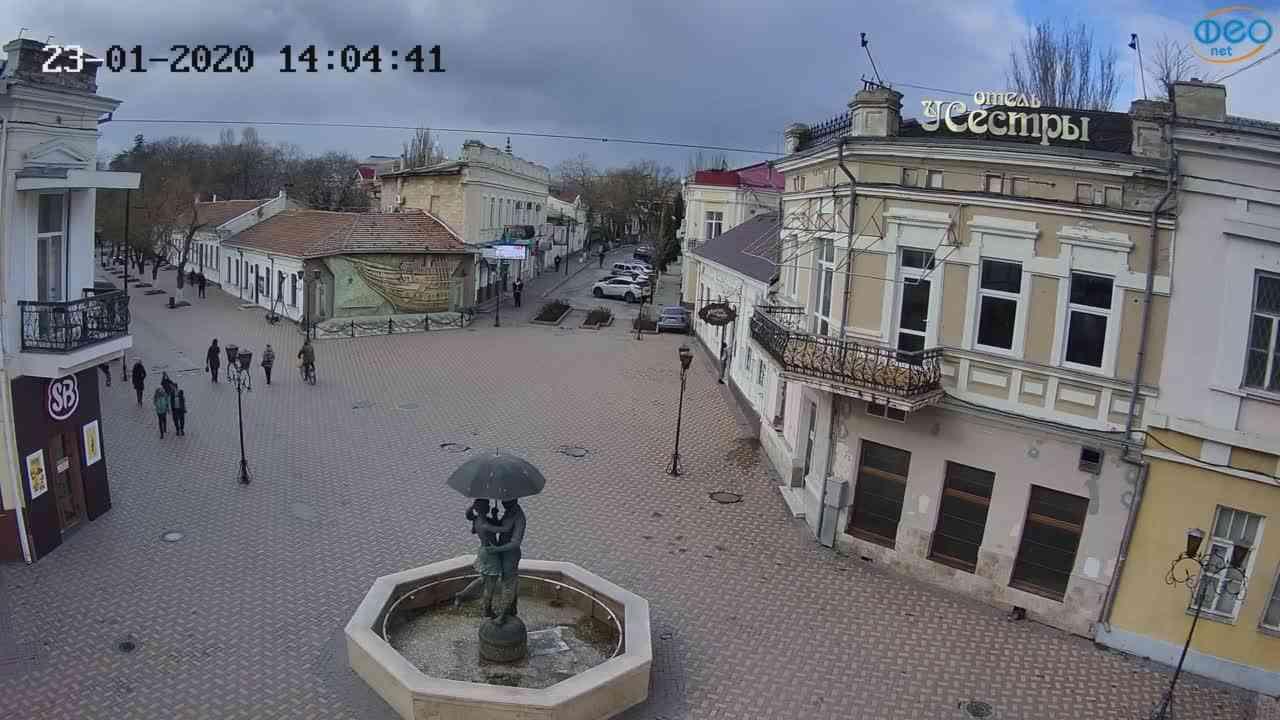 Веб-камеры Феодосии, Панно Бригантина (Камера со звуком.), 2020-01-23 14:05:09