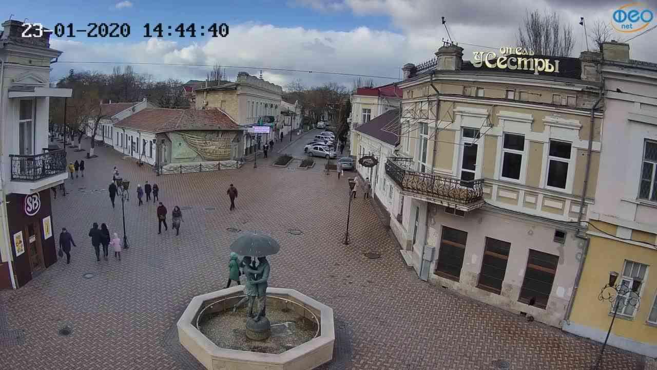 Веб-камеры Феодосии, Панно Бригантина (Камера со звуком.), 2020-01-23 14:45:08