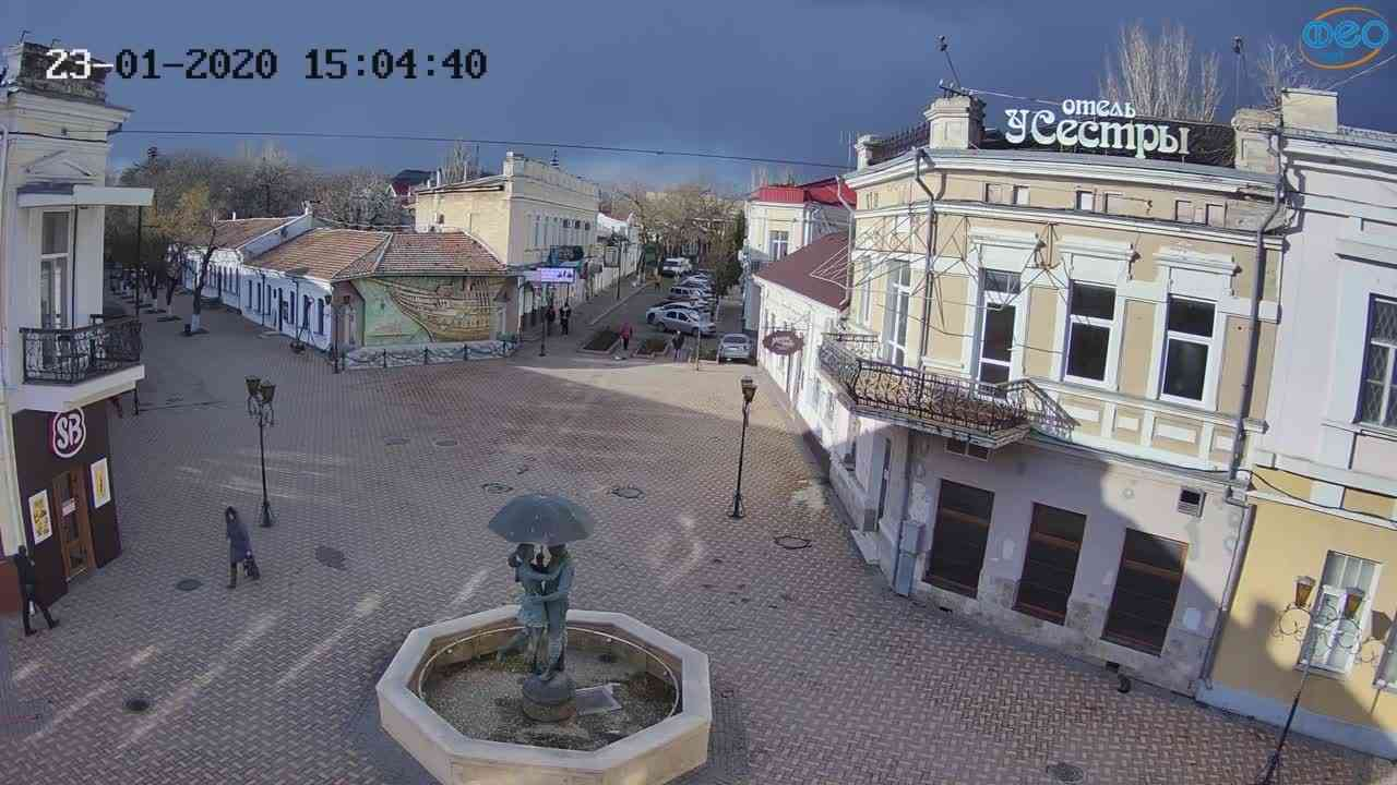 Веб-камеры Феодосии, Панно Бригантина (Камера со звуком.), 2020-01-23 15:05:08