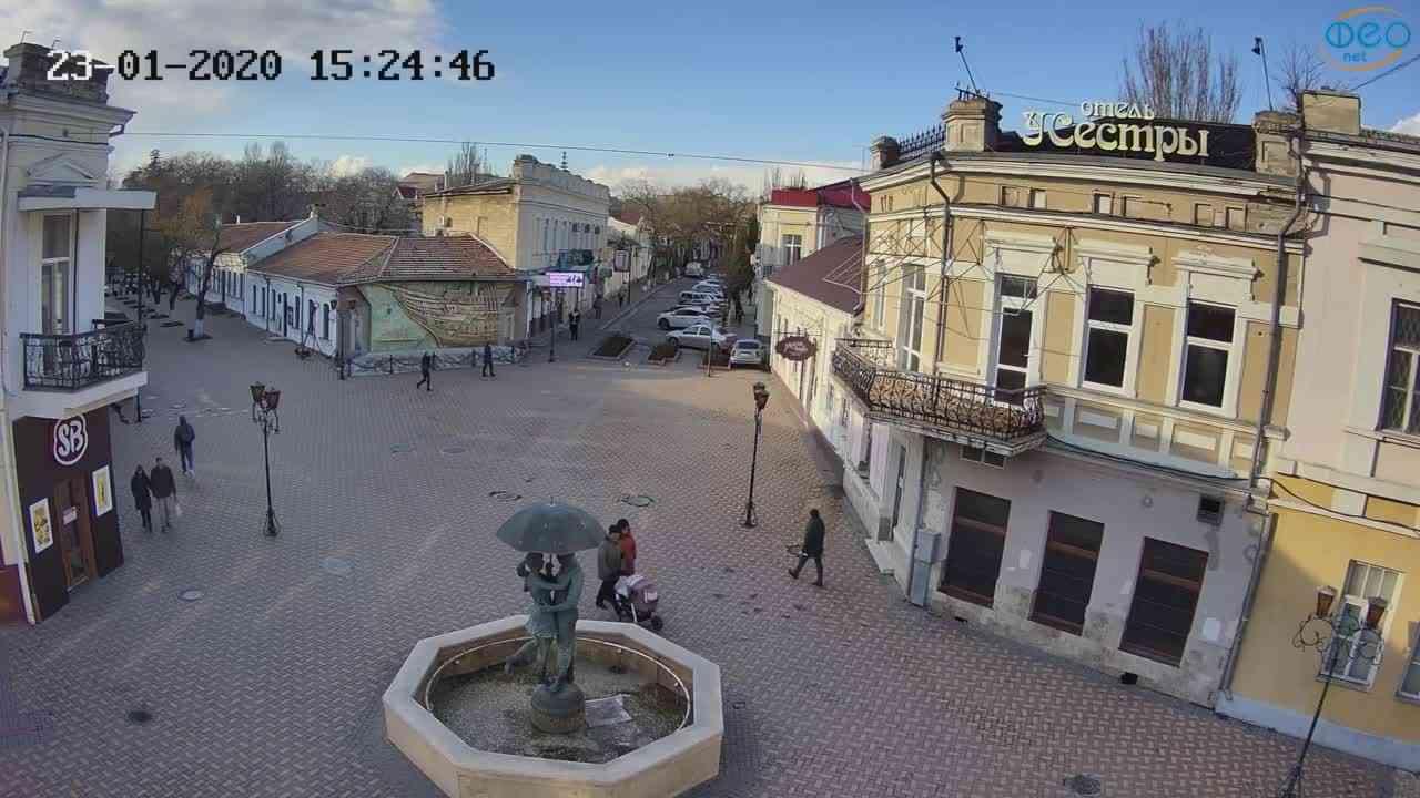 Веб-камеры Феодосии, Панно Бригантина (Камера со звуком.), 2020-01-23 15:25:09