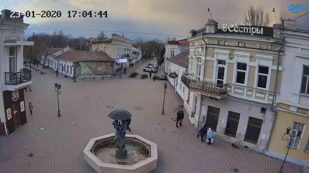 Веб-камеры Феодосии, Панно Бригантина (Камера со звуком.), 2020-01-23 17:05:08