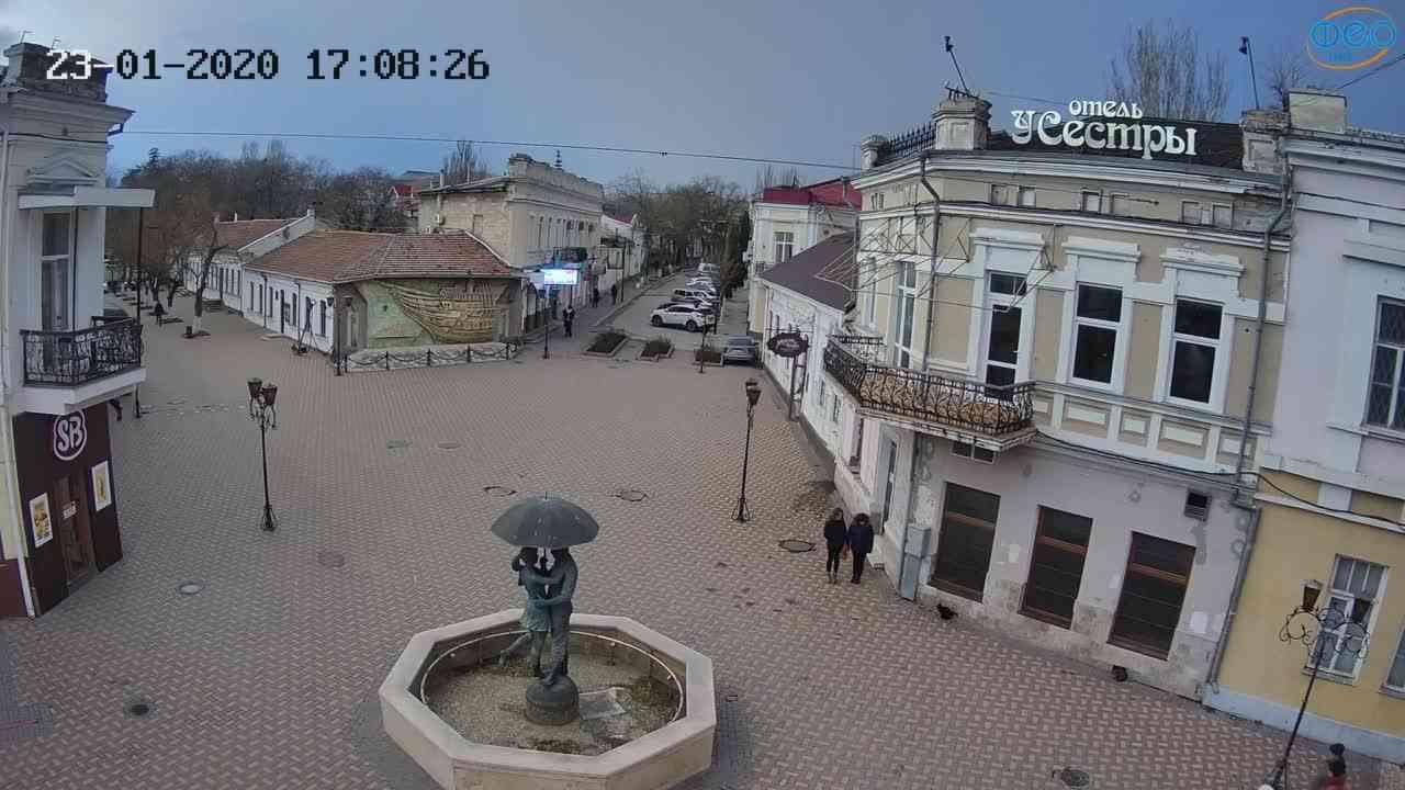 Веб-камеры Феодосии, Панно Бригантина (Камера со звуком.), 2020-01-23 17:08:51