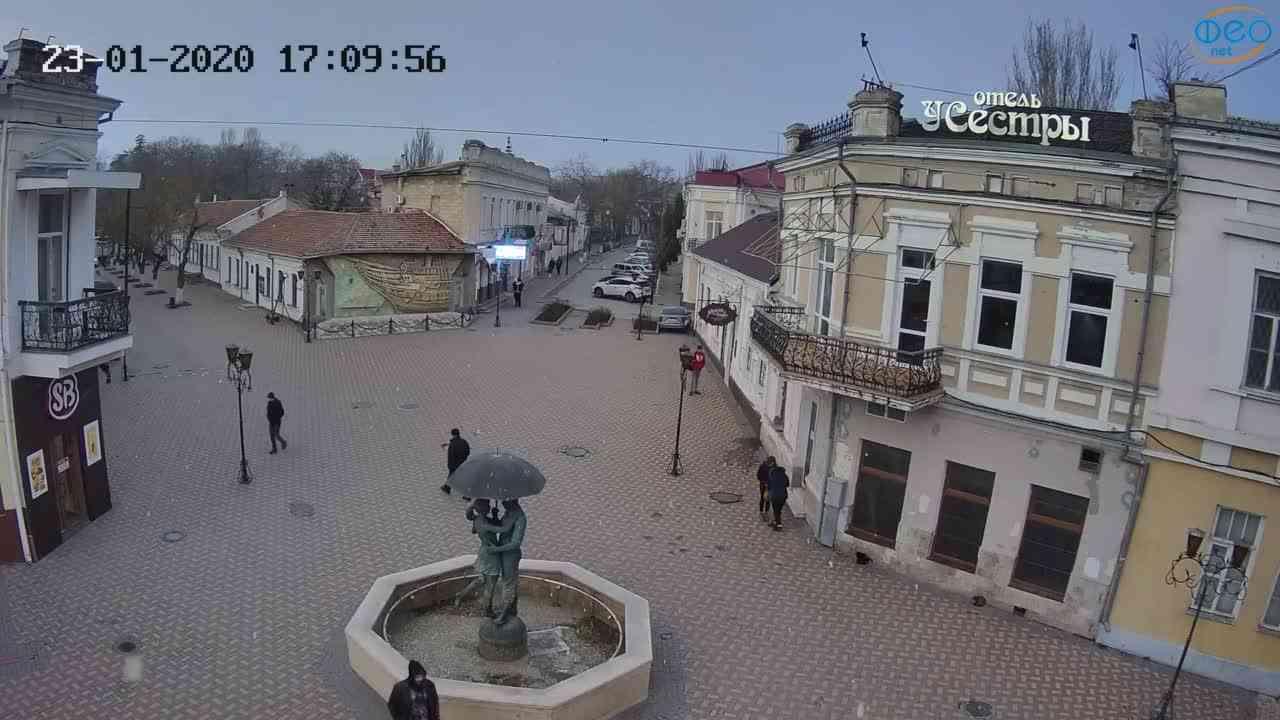Веб-камеры Феодосии, Панно Бригантина (Камера со звуком.), 2020-01-23 17:10:23