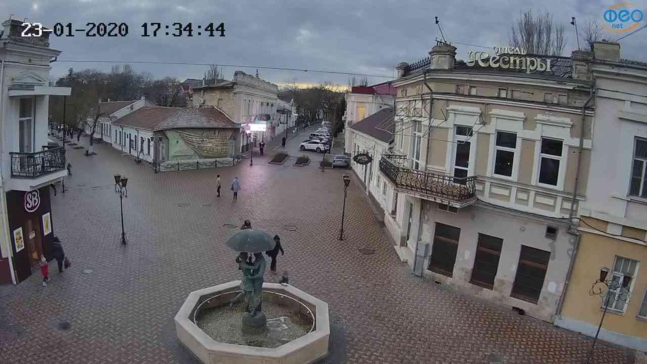 Веб-камеры Феодосии, Панно Бригантина (Камера со звуком.), 2020-01-23 17:35:09