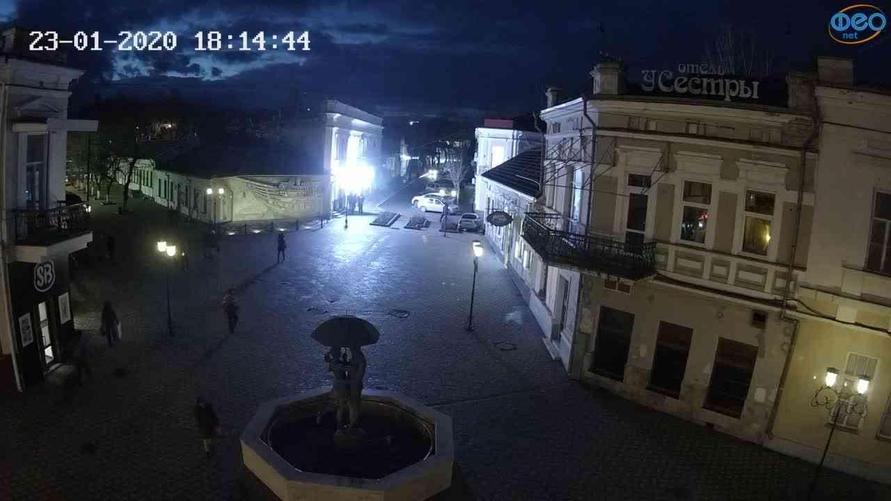 Веб-камеры Феодосии, Панно Бригантина (Камера со звуком.), 2020-01-23 18:15:07