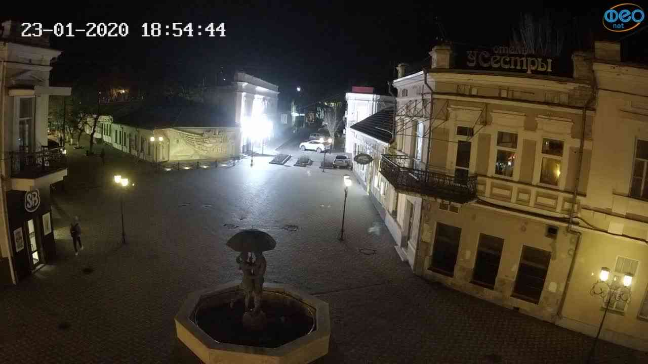 Веб-камеры Феодосии, Панно Бригантина (Камера со звуком.), 2020-01-23 18:55:08