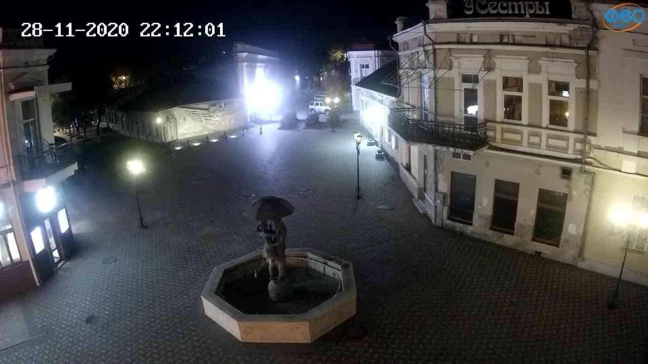 Веб-камеры Феодосии, Панно Бригантина (Камера со звуком.), 2020-11-28 22:05:06