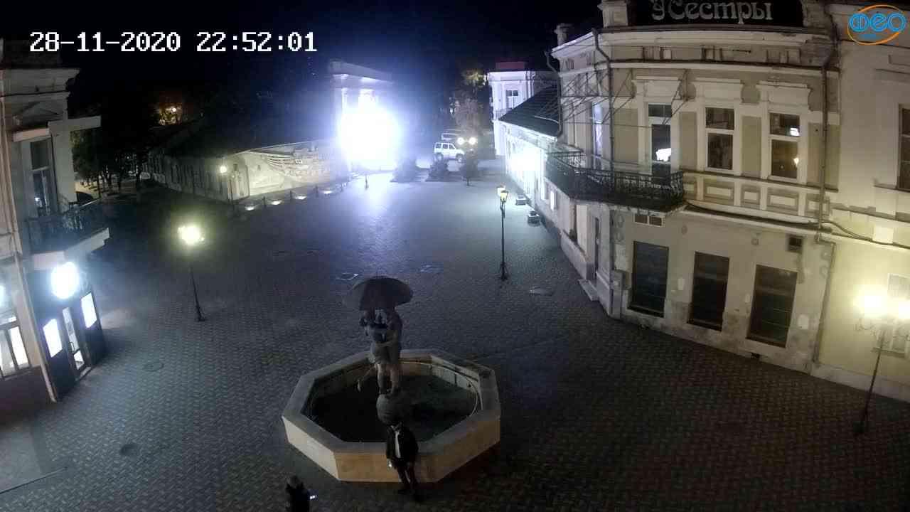 Веб-камеры Феодосии, Панно Бригантина (Камера со звуком.), 2020-11-28 22:45:06