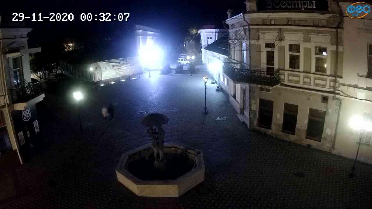 Веб-камеры Феодосии, Панно Бригантина (Камера со звуком.), 2020-11-29 00:25:06