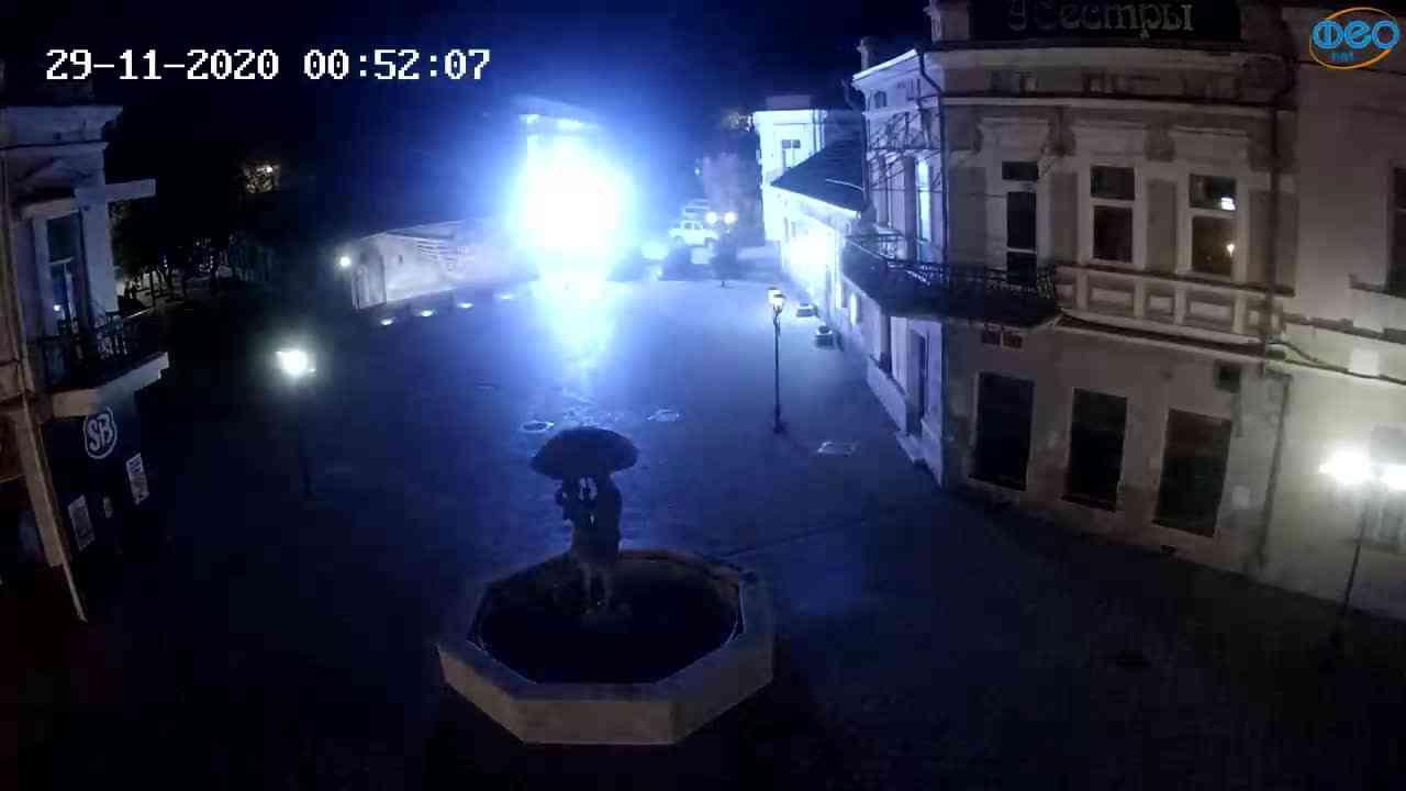 Веб-камеры Феодосии, Панно Бригантина (Камера со звуком.), 2020-11-29 00:45:06