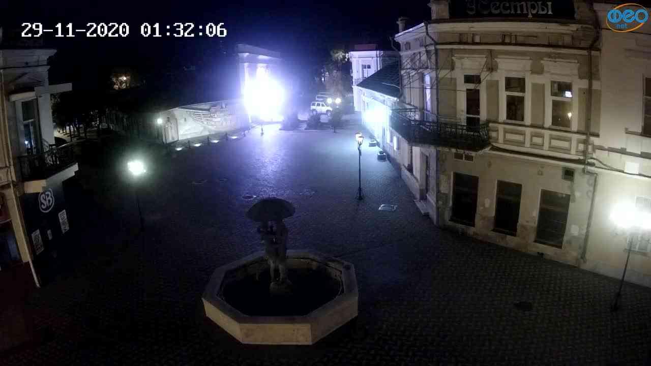 Веб-камеры Феодосии, Панно Бригантина (Камера со звуком.), 2020-11-29 01:25:06