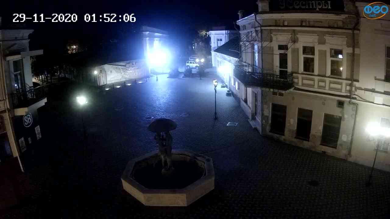 Веб-камеры Феодосии, Панно Бригантина (Камера со звуком.), 2020-11-29 01:45:06