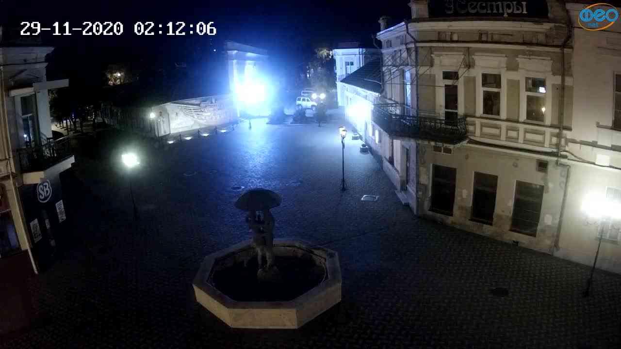 Веб-камеры Феодосии, Панно Бригантина (Камера со звуком.), 2020-11-29 02:05:05