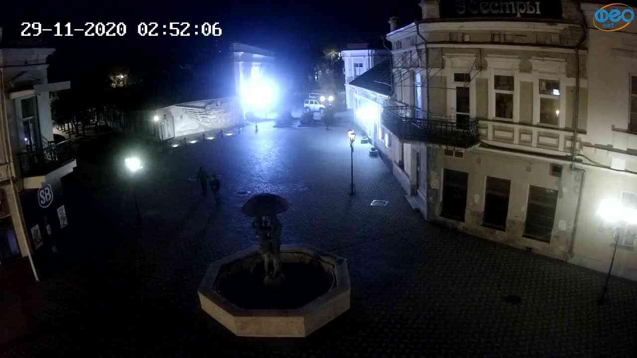 Веб-камеры Феодосии, Панно Бригантина (Камера со звуком.), 2020-11-29 02:45:06