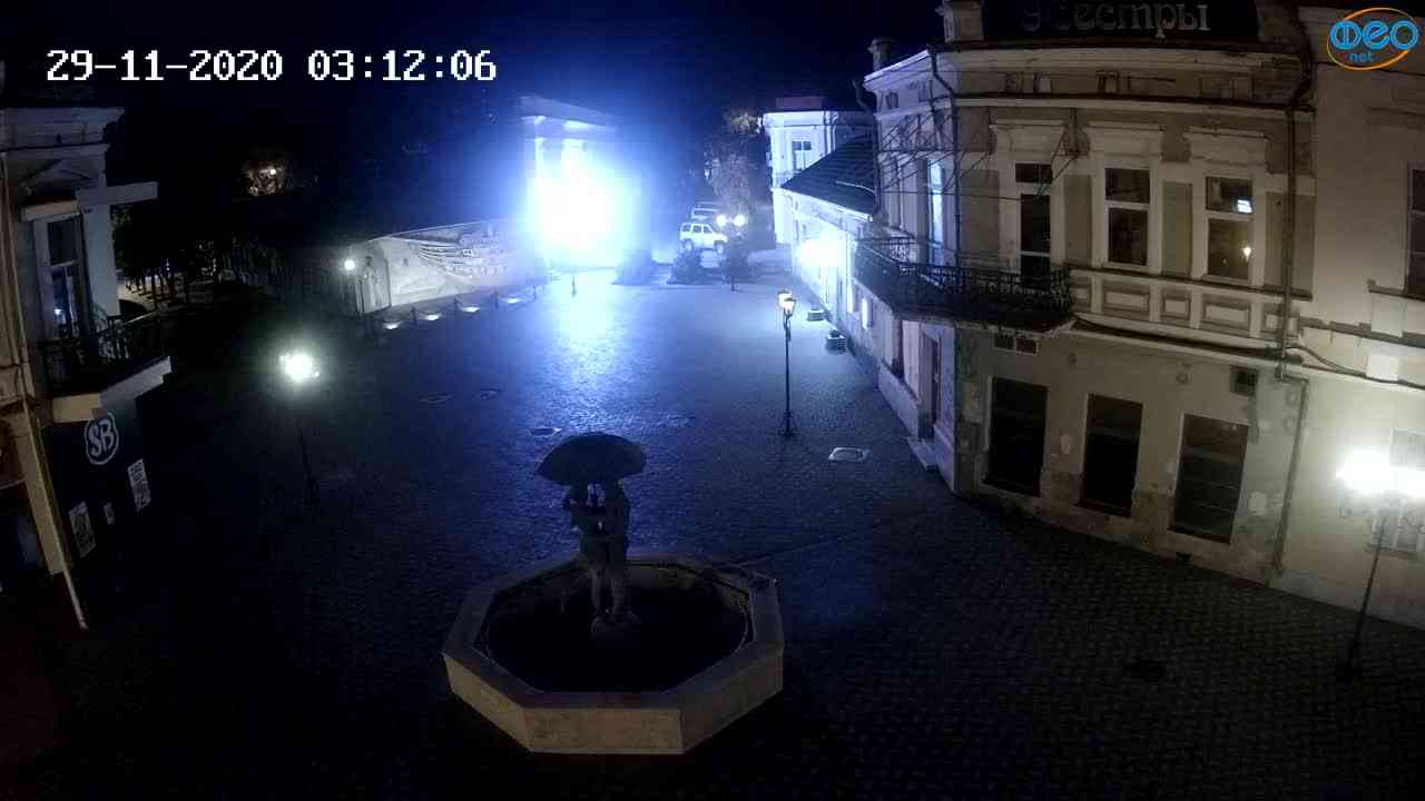 Веб-камеры Феодосии, Панно Бригантина (Камера со звуком.), 2020-11-29 03:05:06