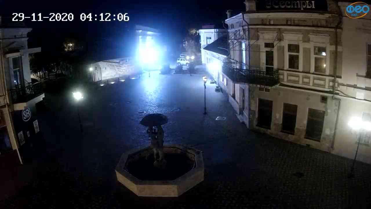Веб-камеры Феодосии, Панно Бригантина (Камера со звуком.), 2020-11-29 04:05:05