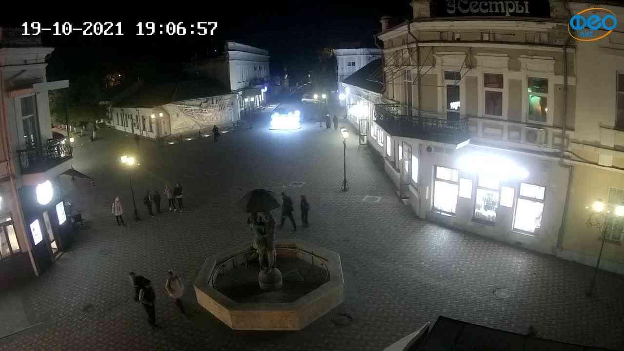 Веб-камеры Феодосии, Панно Бригантина (Камера со звуком.), 2021-10-19 19:07:05