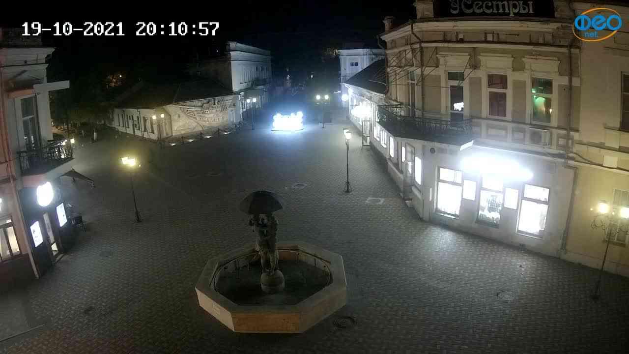 Веб-камеры Феодосии, Панно Бригантина (Камера со звуком.), 2021-10-19 20:11:05