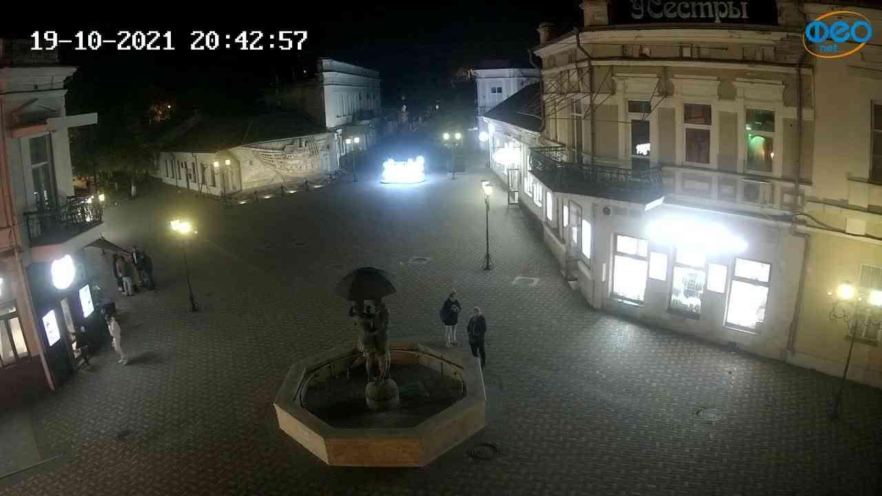 Веб-камеры Феодосии, Панно Бригантина (Камера со звуком.), 2021-10-19 20:43:05
