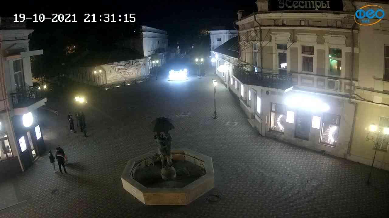 Веб-камеры Феодосии, Панно Бригантина (Камера со звуком.), 2021-10-19 21:31:23