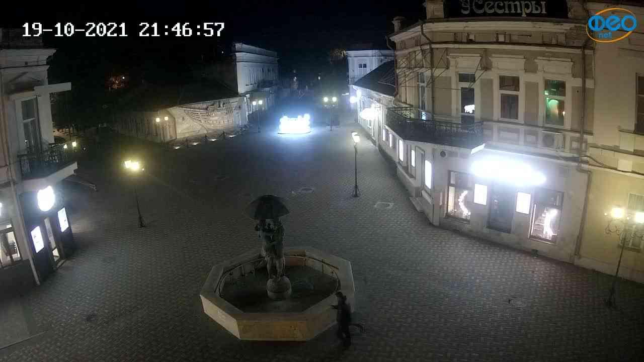 Веб-камеры Феодосии, Панно Бригантина (Камера со звуком.), 2021-10-19 21:47:06