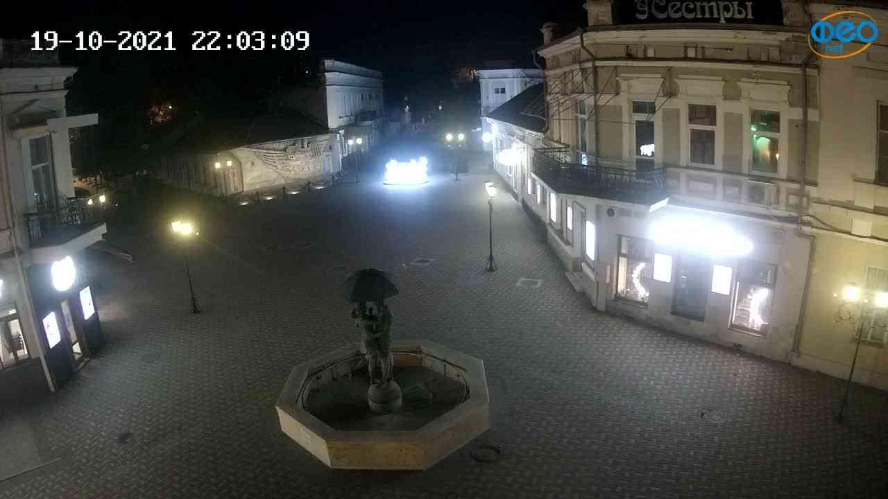 Веб-камеры Феодосии, Панно Бригантина (Камера со звуком.), 2021-10-19 22:03:19
