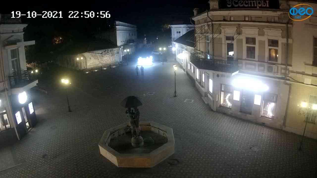 Веб-камеры Феодосии, Панно Бригантина (Камера со звуком.), 2021-10-19 22:51:07