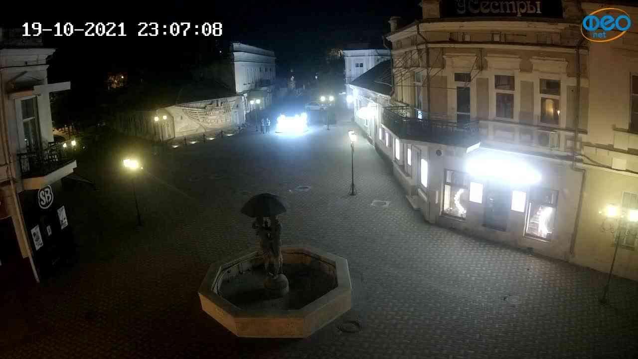 Веб-камеры Феодосии, Панно Бригантина (Камера со звуком.), 2021-10-19 23:07:19