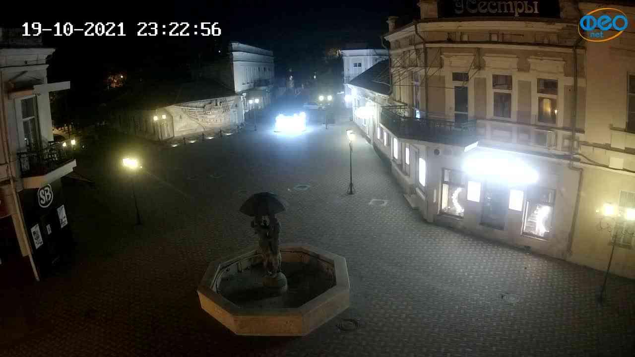 Веб-камеры Феодосии, Панно Бригантина (Камера со звуком.), 2021-10-19 23:23:05