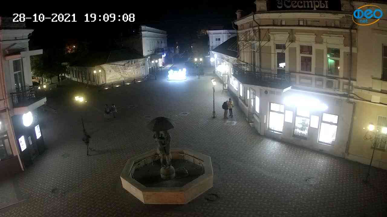 Веб-камеры Феодосии, Панно Бригантина (Камера со звуком.), 2021-10-28 19:09:20