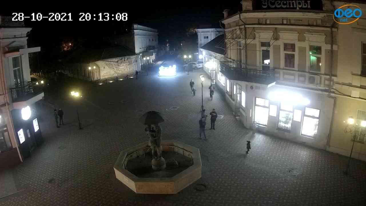 Веб-камеры Феодосии, Панно Бригантина (Камера со звуком.), 2021-10-28 20:13:17