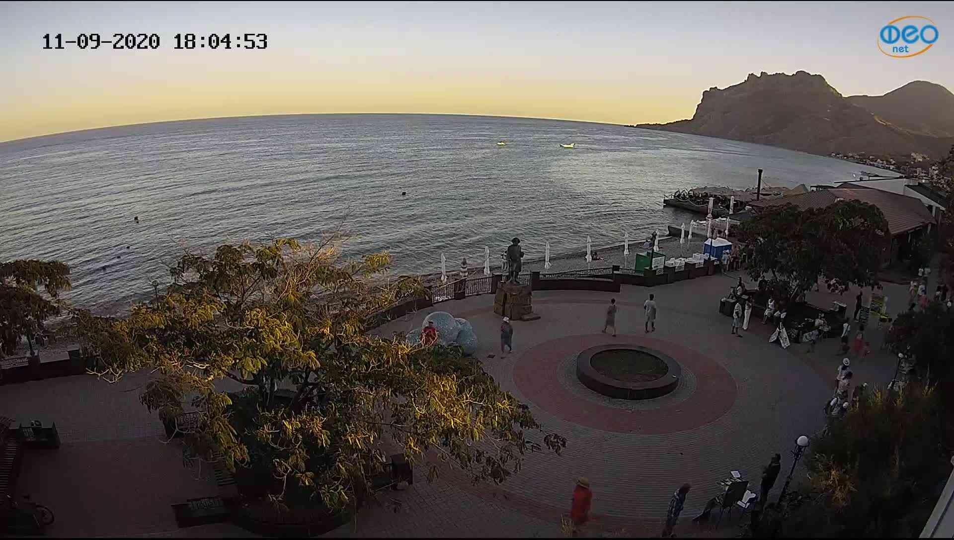 Веб-камеры Феодосии, Набережная Коктебель перед домом Волошина, 2020-09-11 18:05:07