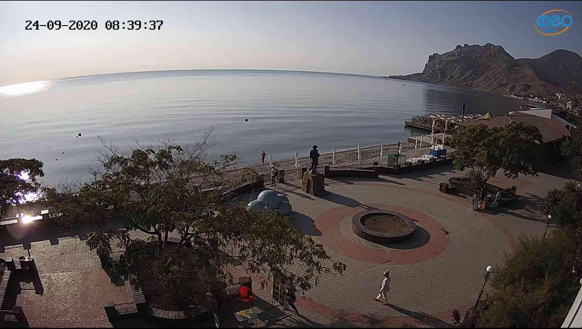 Веб-камеры Феодосии, Набережная Коктебель перед домом Волошина, 2020-09-24 08:39:52