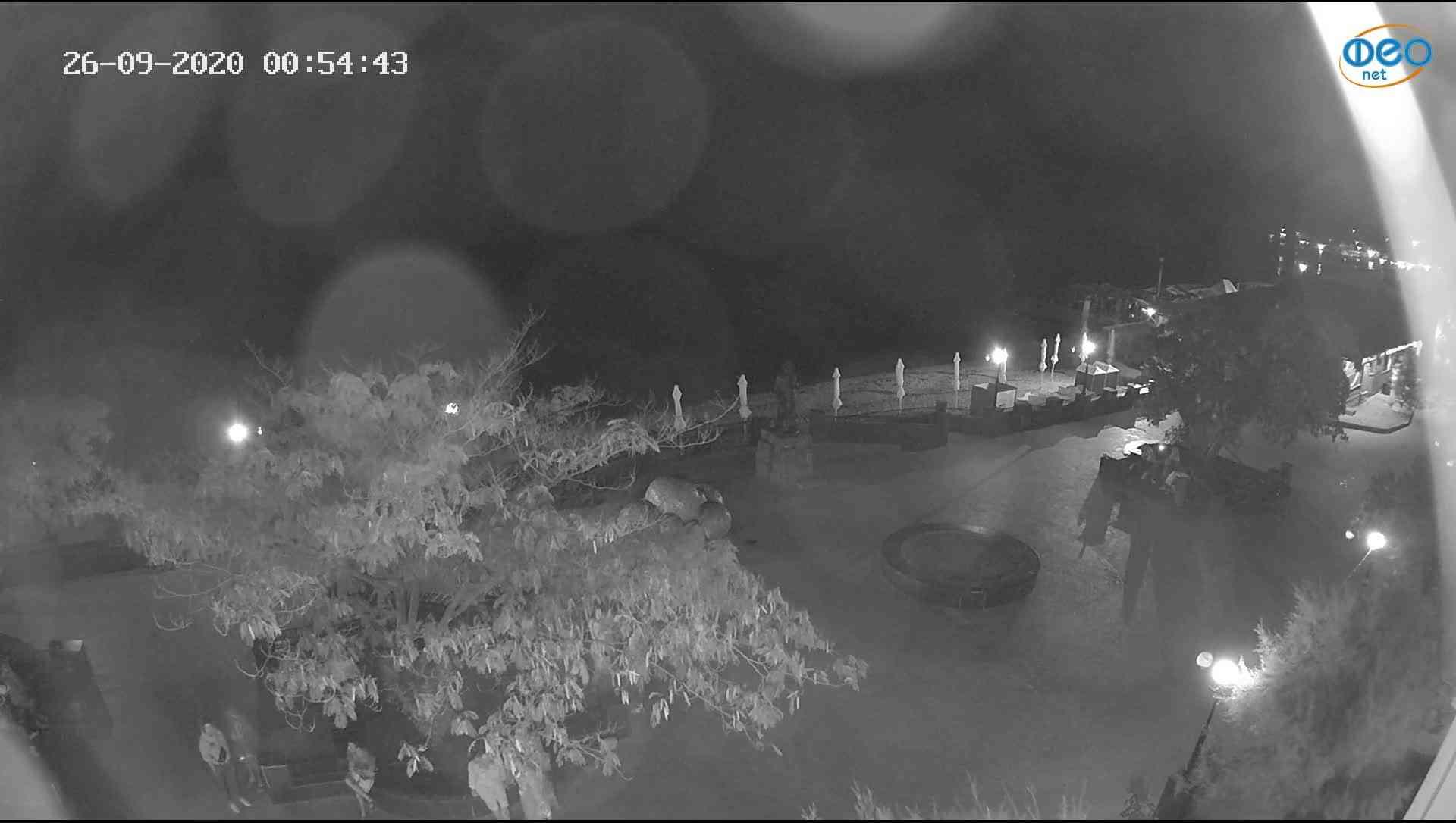 Веб-камеры Феодосии, Набережная Коктебель перед домом Волошина, 2020-09-26 00:55:01