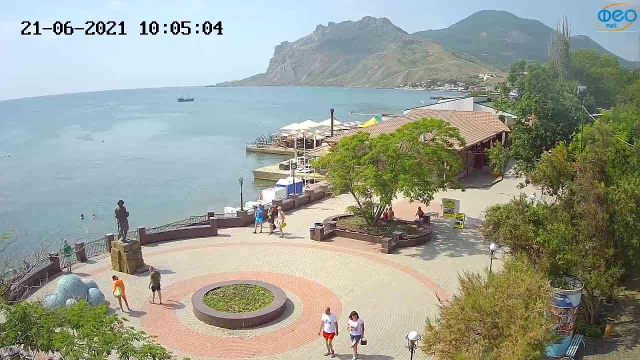 Веб-камеры Феодосии, Набережная Коктебель перед домом Волошина, 2021-06-21 10:05:14