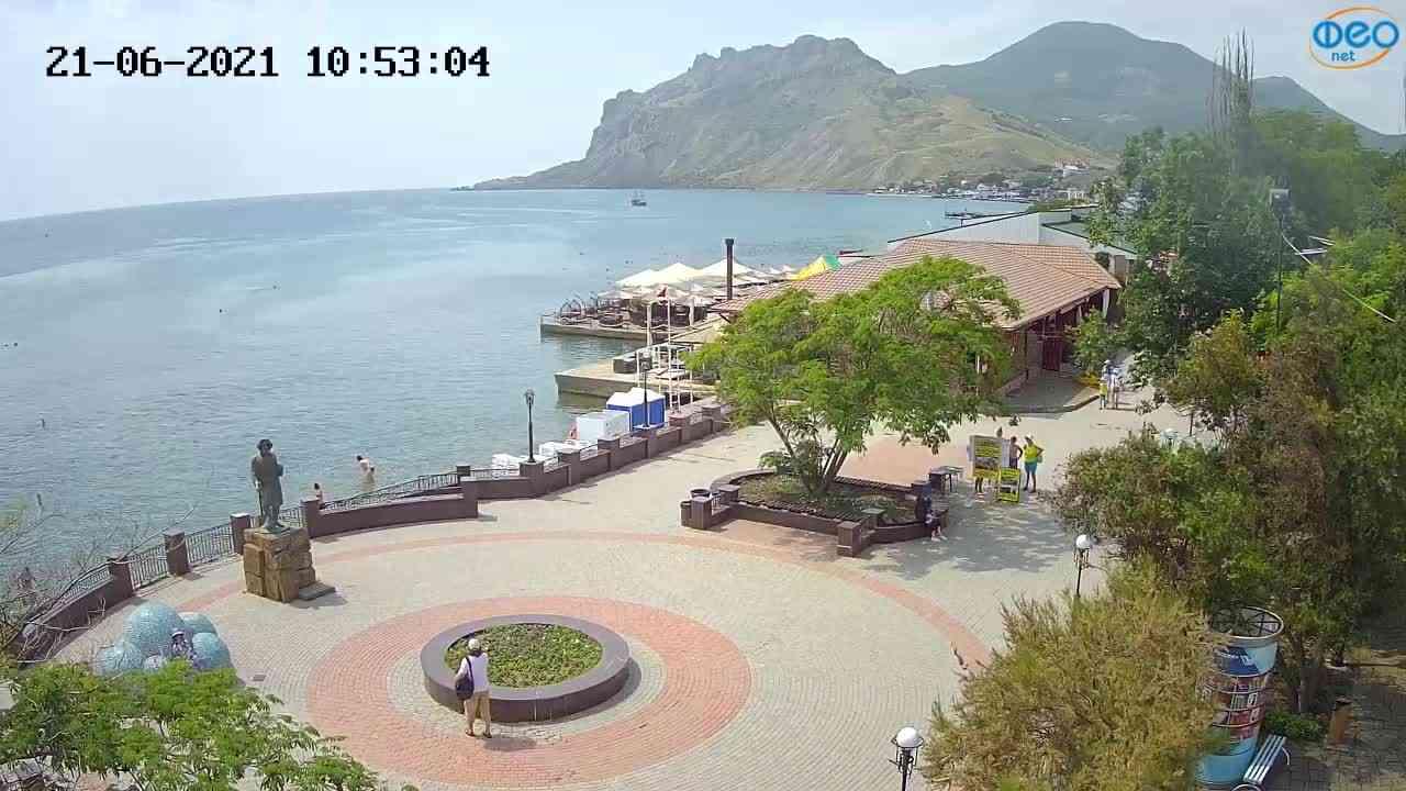 Веб-камеры Феодосии, Набережная Коктебель перед домом Волошина, 2021-06-21 10:53:13