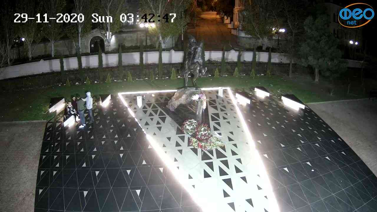 Веб-камеры Феодосии, Памятник генералу Котляревскому, 2020-11-29 03:43:00