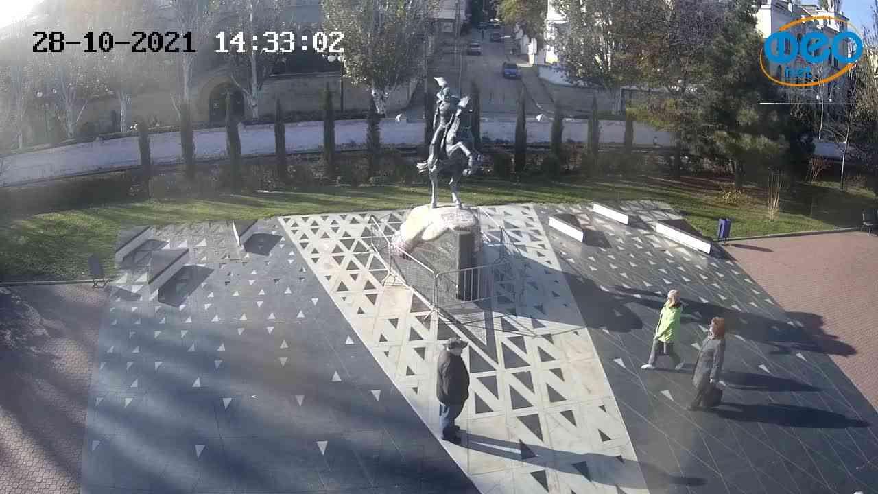 Веб-камеры Феодосии, Памятник генералу Котляревскому, 2021-10-28 14:33:13