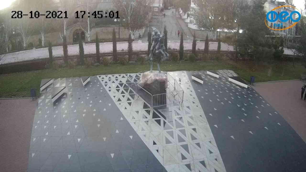 Веб-камеры Феодосии, Памятник генералу Котляревскому, 2021-10-28 17:45:12