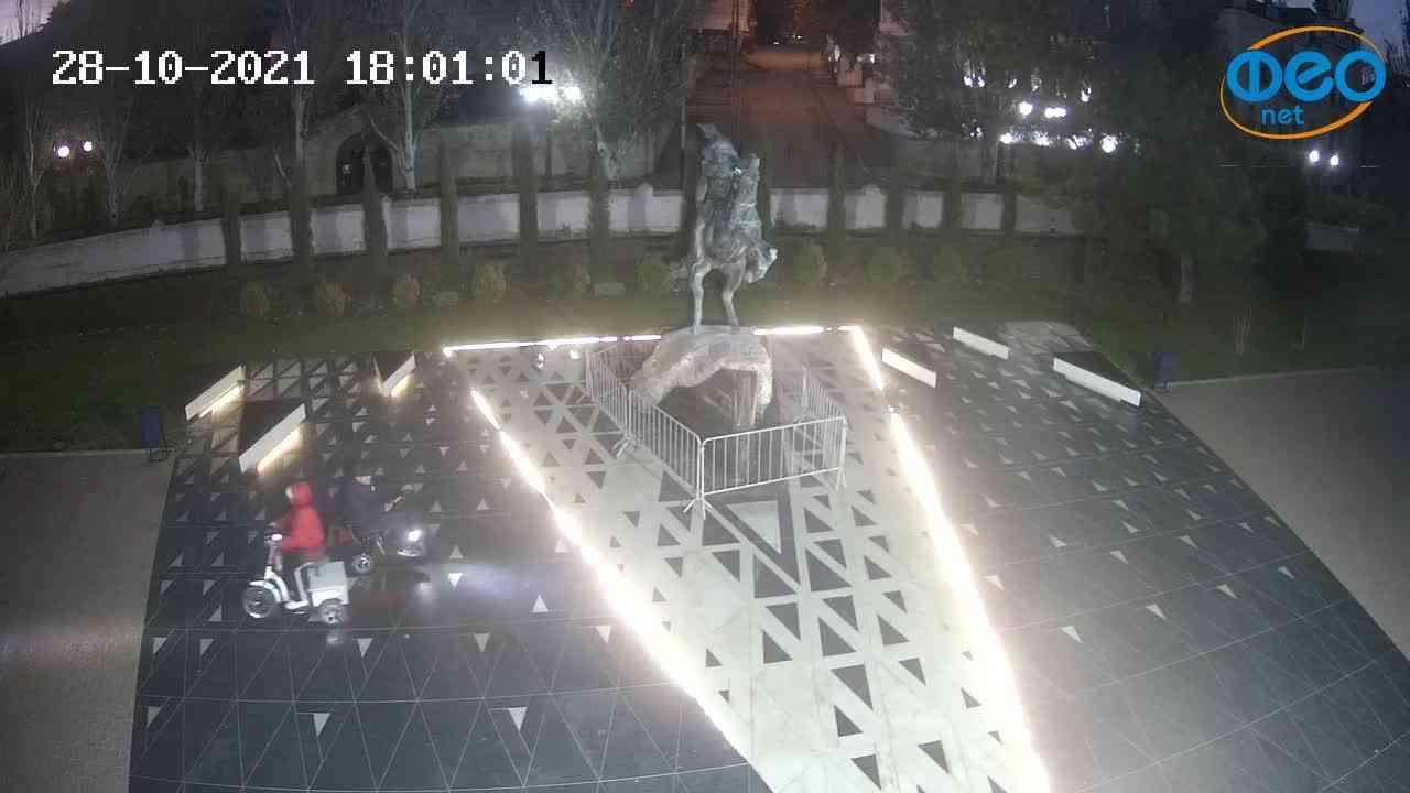 Веб-камеры Феодосии, Памятник генералу Котляревскому, 2021-10-28 18:01:13
