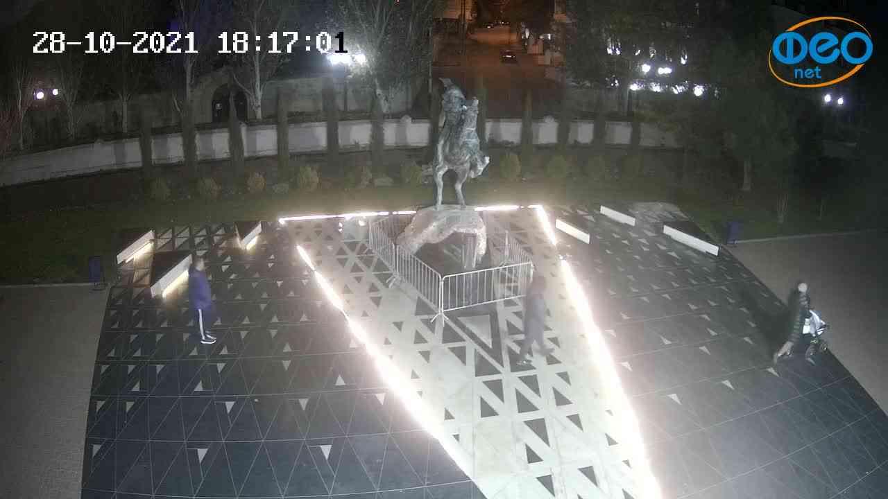 Веб-камеры Феодосии, Памятник генералу Котляревскому, 2021-10-28 18:17:13