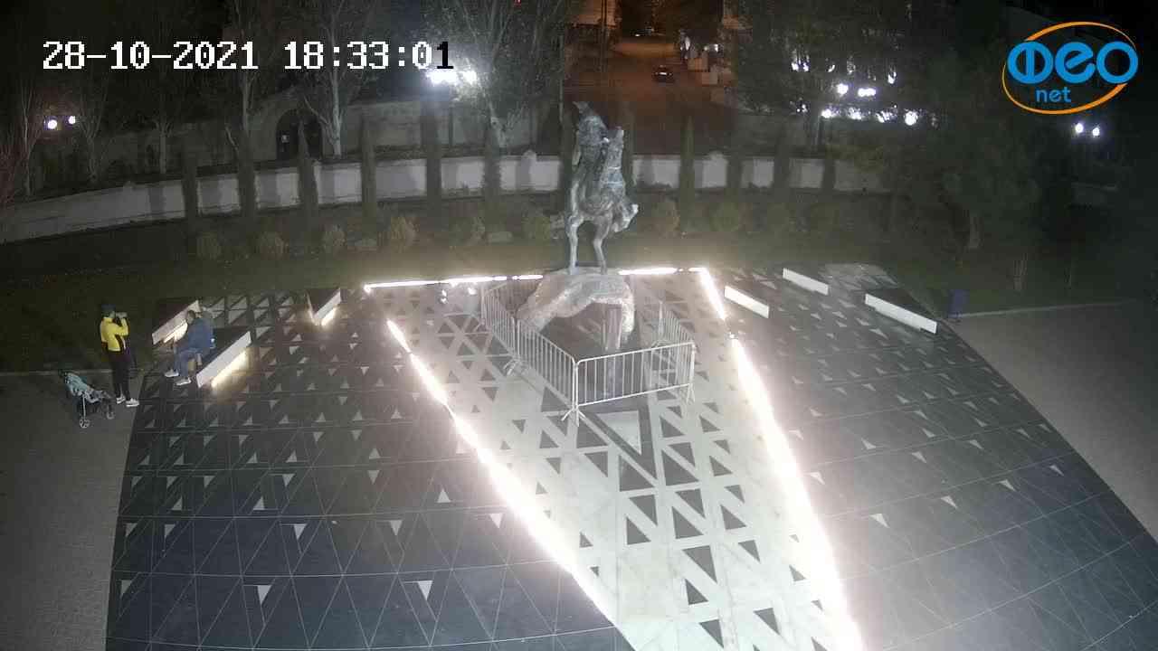 Веб-камеры Феодосии, Памятник генералу Котляревскому, 2021-10-28 18:33:12