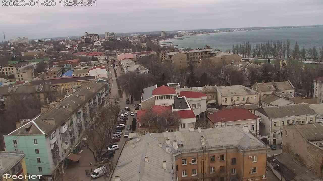 Веб-камеры Феодосии, Обзорная, 2020-01-20 12:55:15