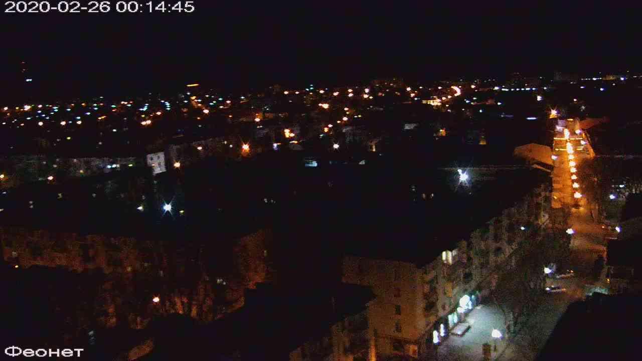 Веб-камеры Феодосии, Обзорная, 2020-02-26 00:15:22