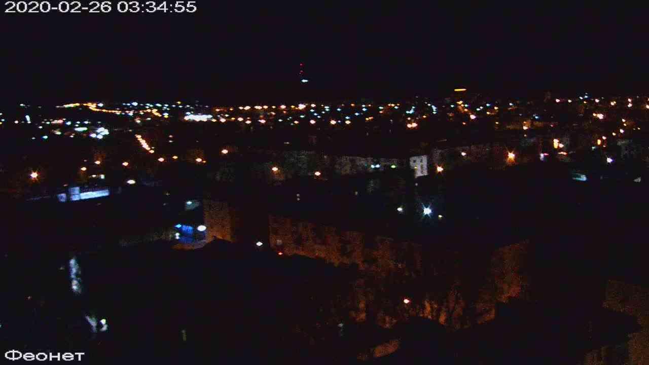 Веб-камеры Феодосии, Обзорная, 2020-02-26 03:35:22