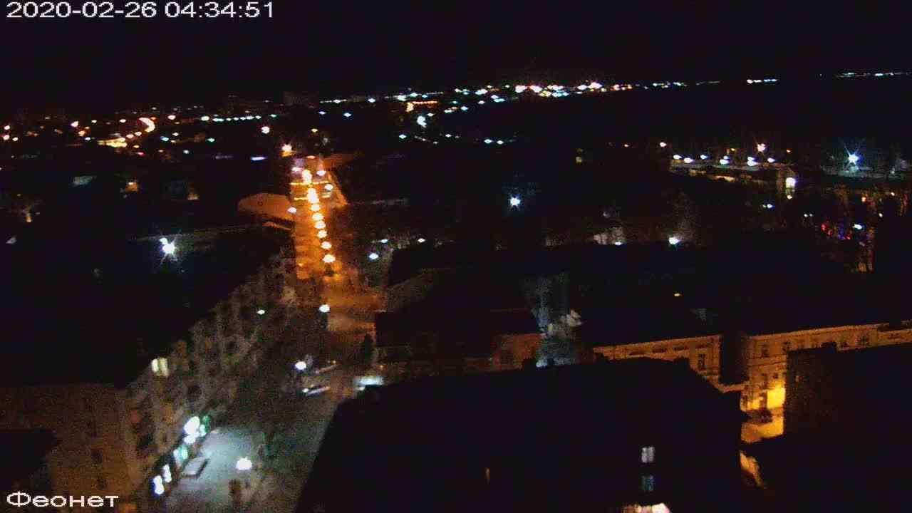 Веб-камеры Феодосии, Обзорная, 2020-02-26 04:35:22