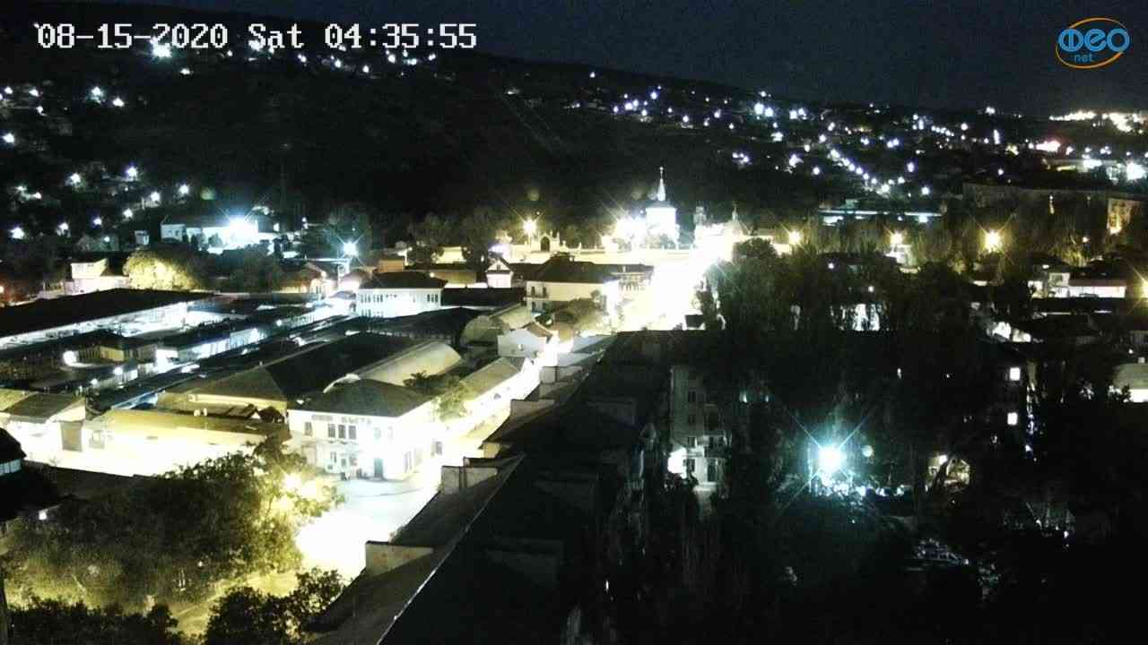 Веб-камеры Феодосии, Обзорная, 2020-08-15 04:36:07