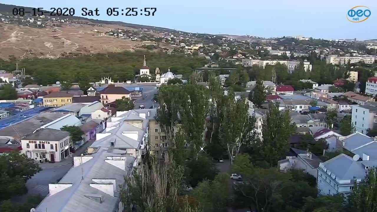 Веб-камеры Феодосии, Обзорная, 2020-08-15 05:26:10